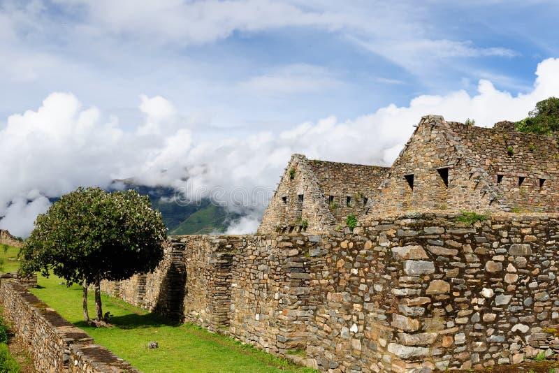 Suramérica - Perú, ruinas del inca de Choquequirao fotografía de archivo libre de regalías