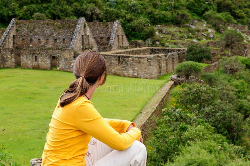 Suram?rica - Per?, ruinas del inca de Choquequirao imagenes de archivo