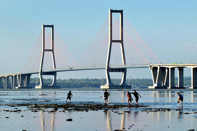 Suramadu bridge Surabaya Indonesia stock photos