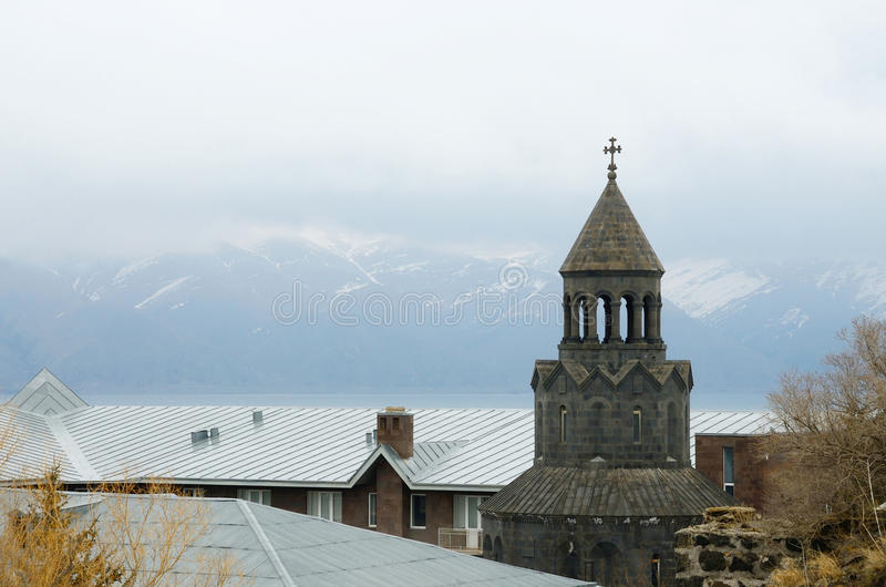 Surb Hakob chapel dome, Sevan, Armenia, Caucasus,Central Asia royalty free stock photo