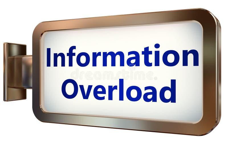 Surcharge d'information sur le fond de panneau d'affichage illustration de vecteur