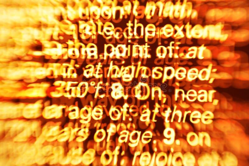 Surcharge de l'information photo libre de droits