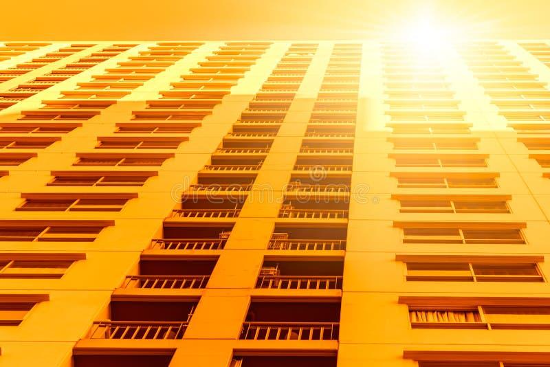 Surchauffe à hautes températures de villes images stock