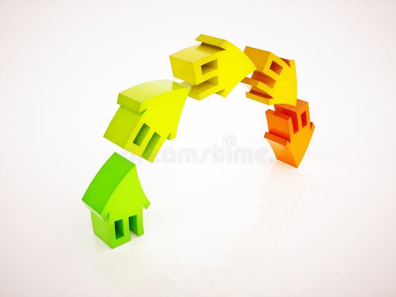 surchauffe du marché de l'immobilier illustration stock