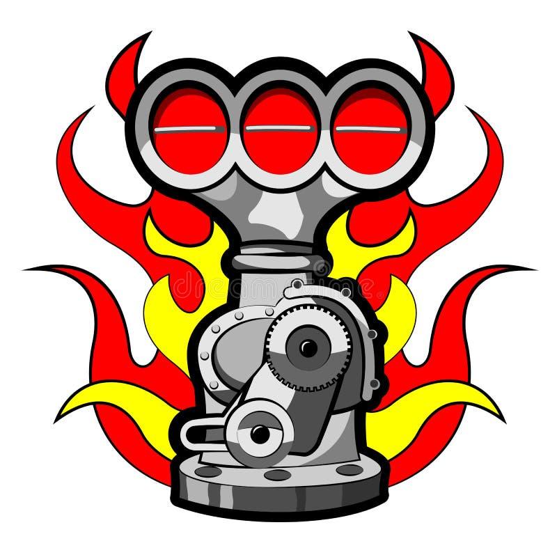 surchauffeur illustration stock