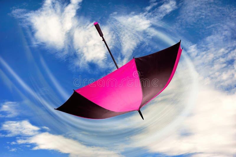 Sureal Umbrella Flying royalty free stock photo