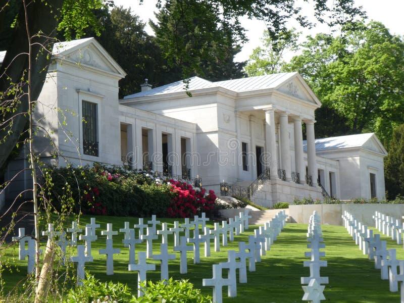 Suresnes Amerikaanse Begraafplaats en Herdenkings, Frankrijk, Europa stock afbeeldingen