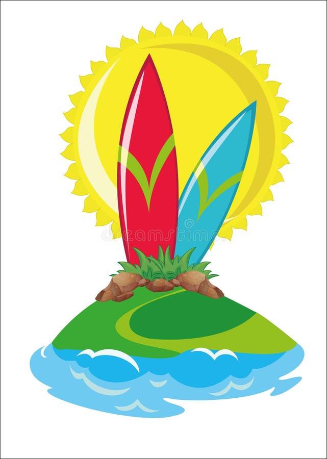 surf ilustração royalty free