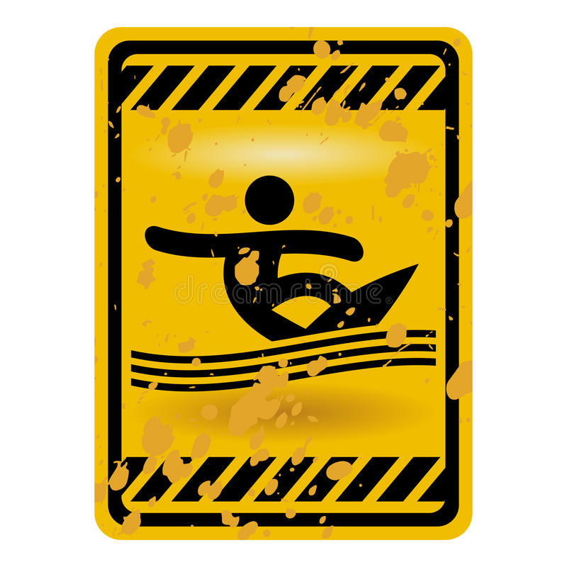 Surf area sign stock illustration