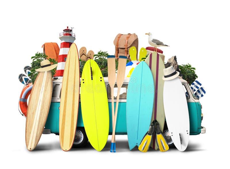 Surf blu di van c fotografia stock