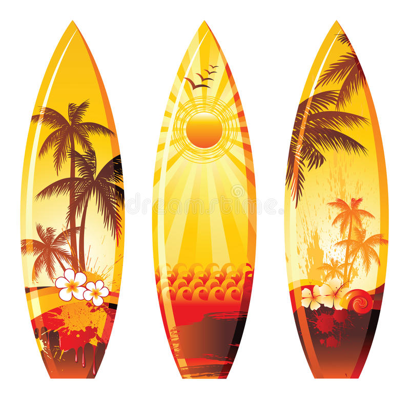 Surf boards royalty free illustration
