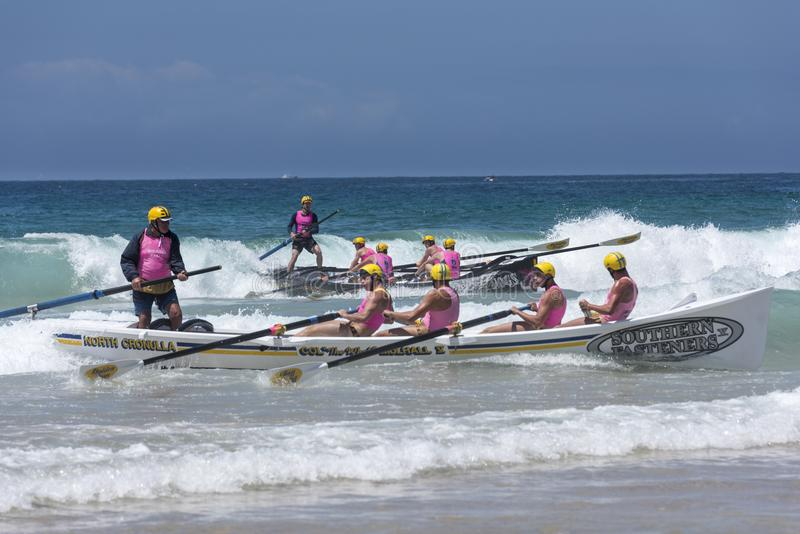 Surf boat race, Australia royalty free stock photo