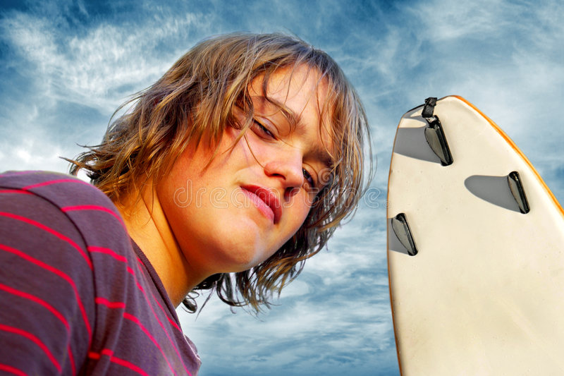 Download Surf Boy stock image. Image of people, alone, head, clouds - 9143567