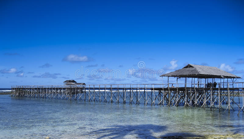 Surf break coud 9 siargao island philippines royalty free stock images