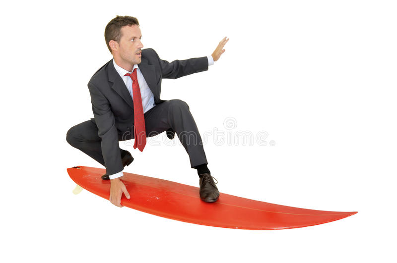 Surf businessman royalty free stock photo