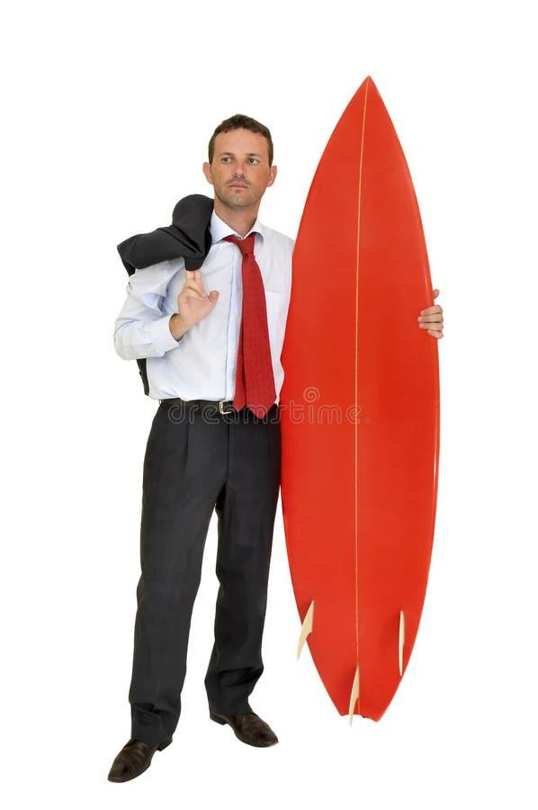 Surf businessman stock images