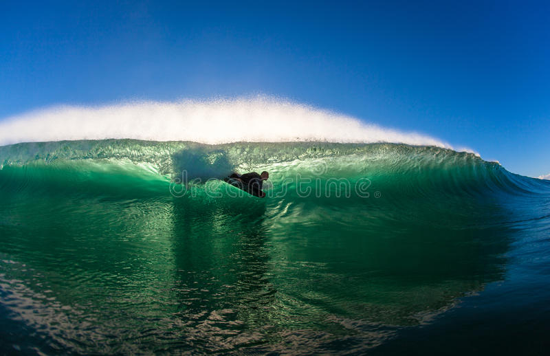 Surf City Body Boarding Wave stock photography
