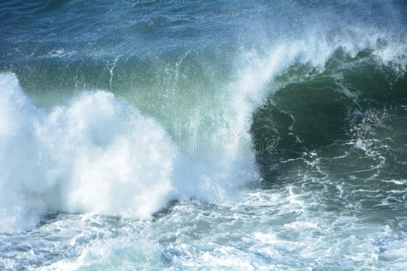 A wave crashes at Shore Acres State Park on the Oregon Coast royalty free stock photo