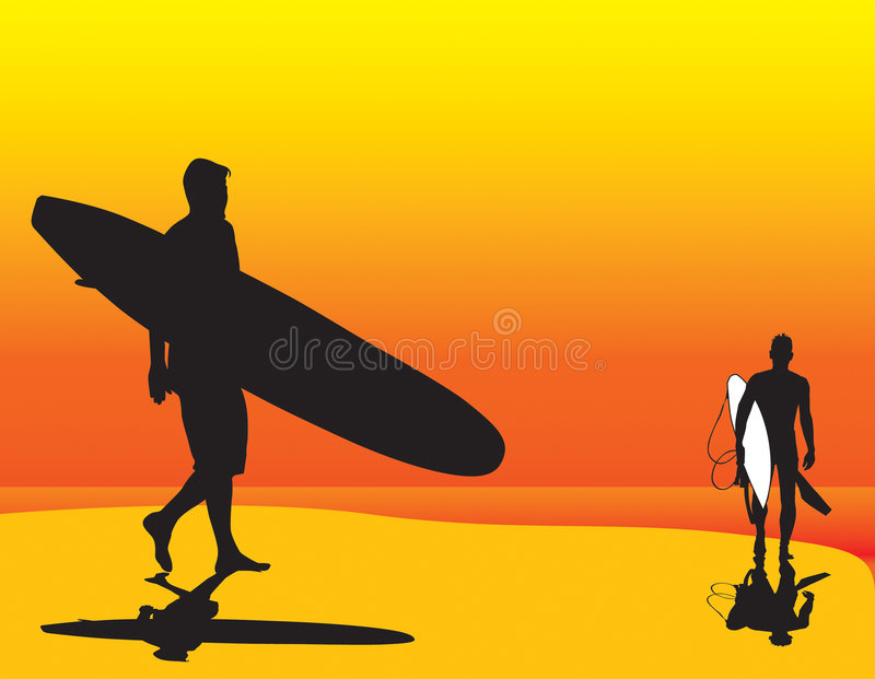 Surf Day's End royalty free stock image