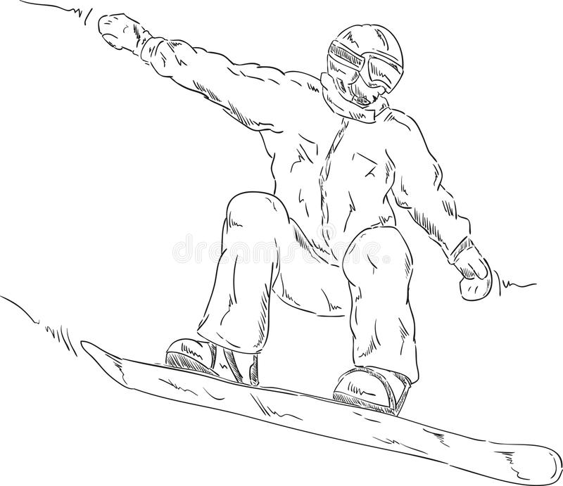 Surf des neiges illustration stock