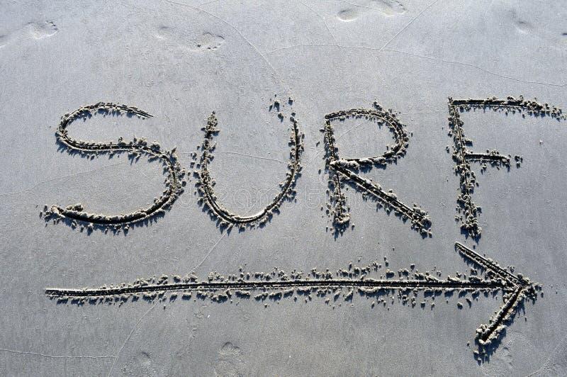 Surf deze manier royalty-vrije stock foto