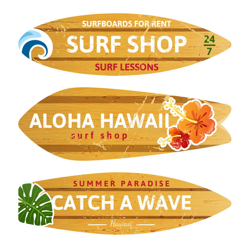 Surf di legno royalty illustrazione gratis