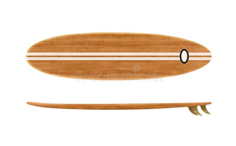 Surf en bois vintage isolé photos libres de droits