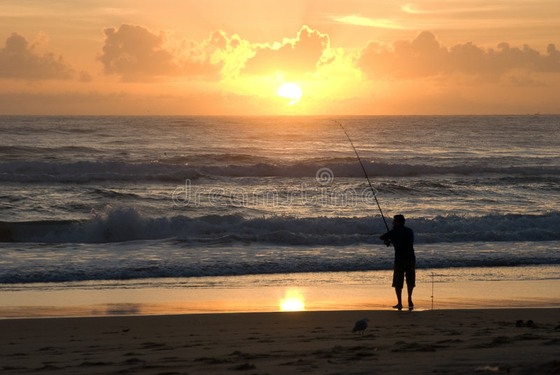 Surf Fisher Stock Photography