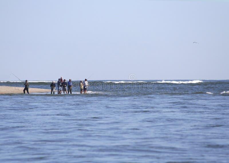 Surf Fishing royalty free stock photos