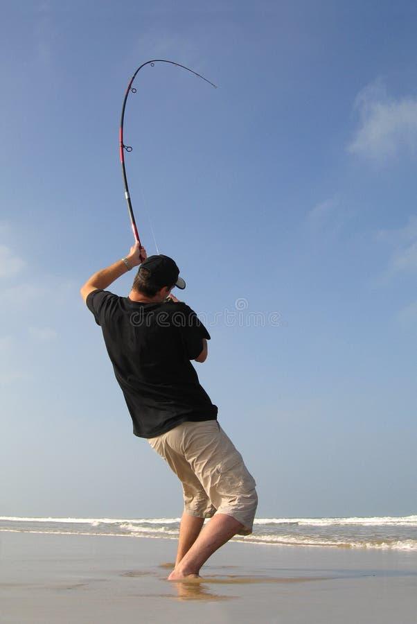 Surf fishing stock photography