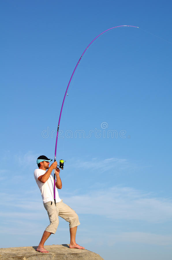 Surf fishing royalty free stock images