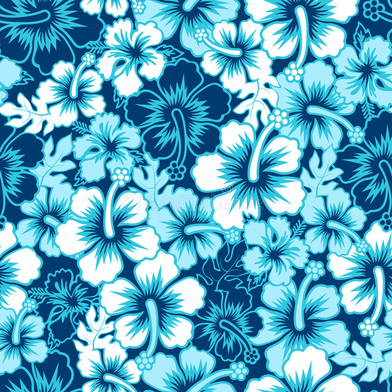 Free Surf Floral Hibiscus Seamless Pattern Royalty Free Stock Photo - 41755285