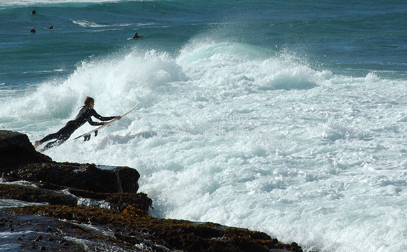 Download Surf Leap stock image. Image of surfing, riders, water, waves - 45651
