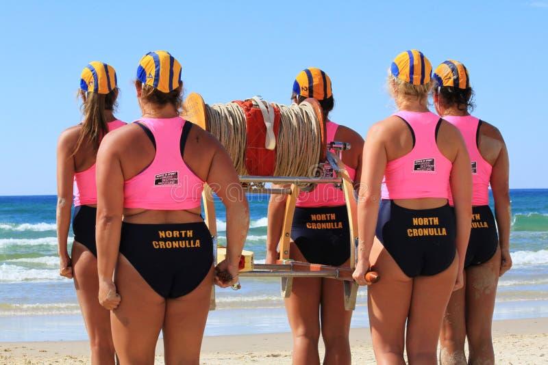 Surf life saving championship. April 2013 Australi royalty free stock photo