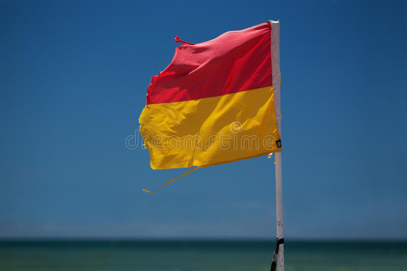 Download Surf Lifesaving Flag On Beach. Royalty Free Stock Photo - Image: 17849525
