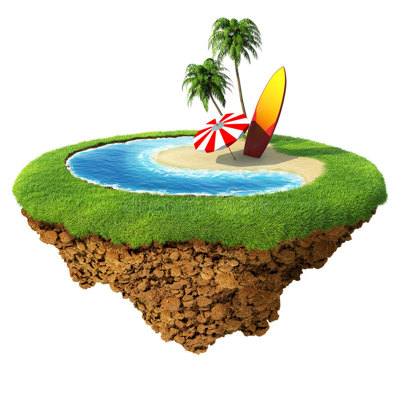 Surf on little planet royalty free illustration