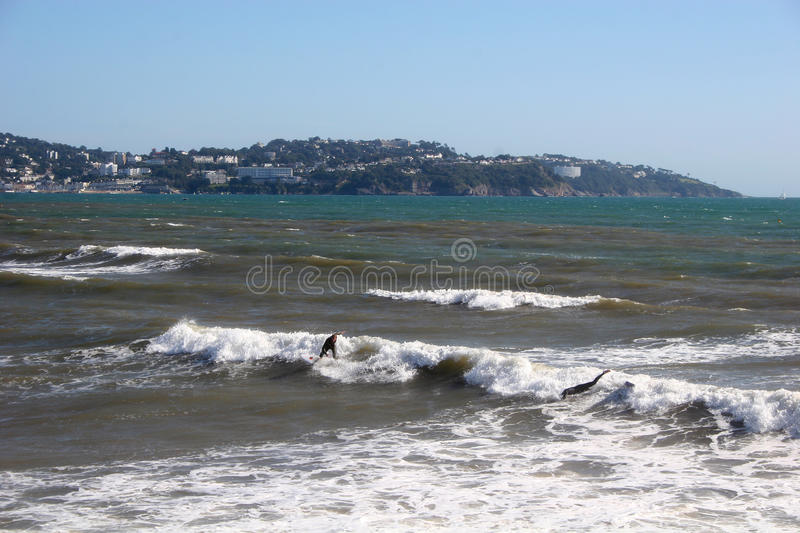 Download Surf on Paignton beach stock image. Image of rock, paignton - 12775289