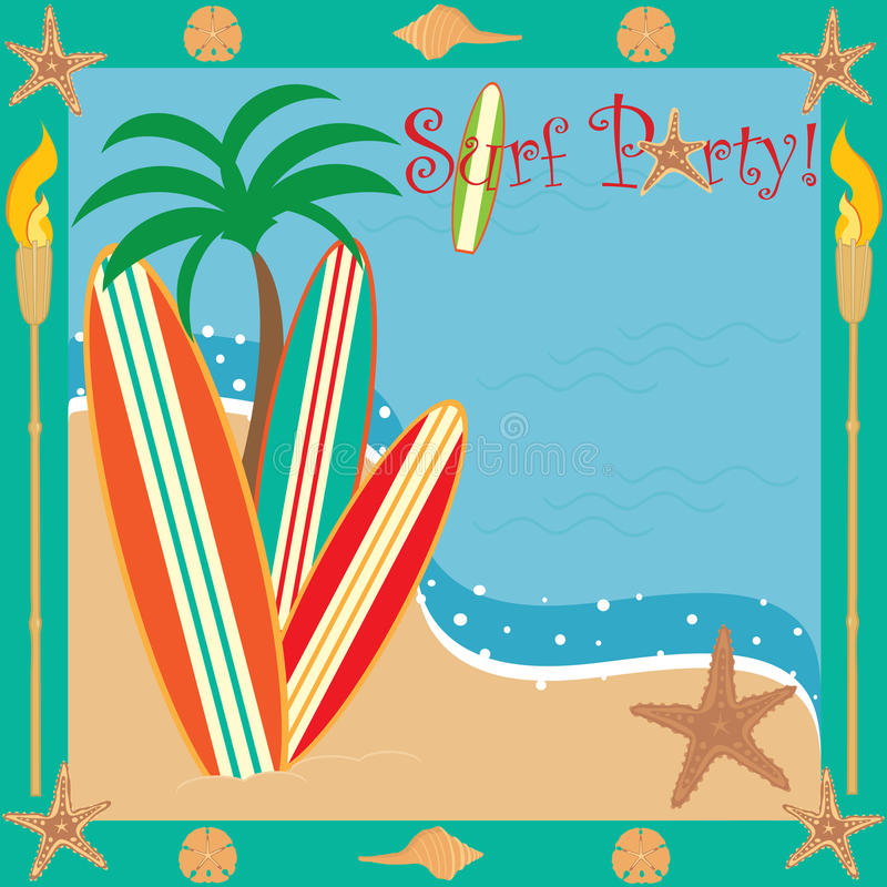 Download Surf Party! stock vector. Image of beach, sand, starfish - 14076758