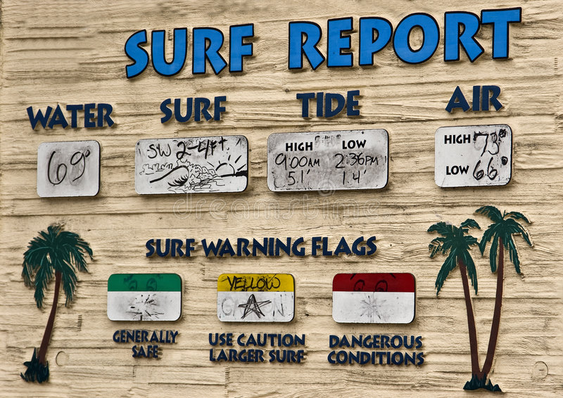 Surf Report Royalty Free Stock Photography
