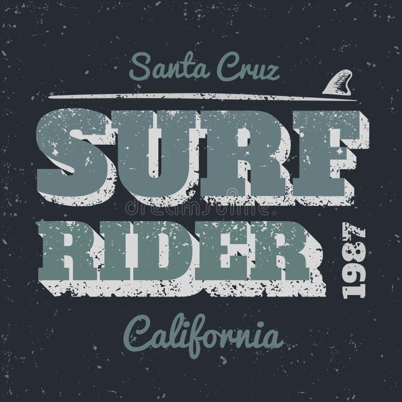 Surf rider royalty free illustration