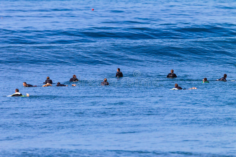 Download Surf Riders Waiting Swells editorial stock photo. Image of waves - 26823298