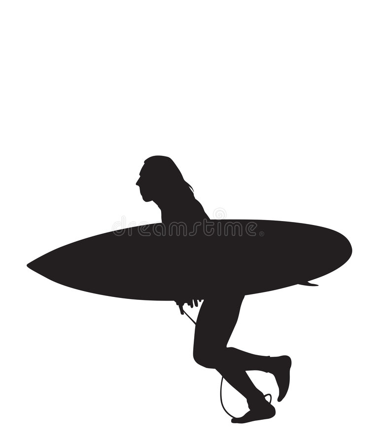 Surf Run 2 stock illustration