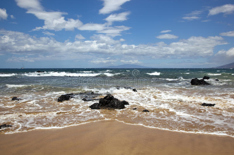 Download Surf & Sand stock image. Image of horizon, clouds, tide - 25821177