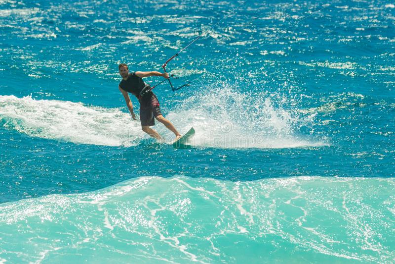 Surf in the sea in front of El Medano Tenerife stock image