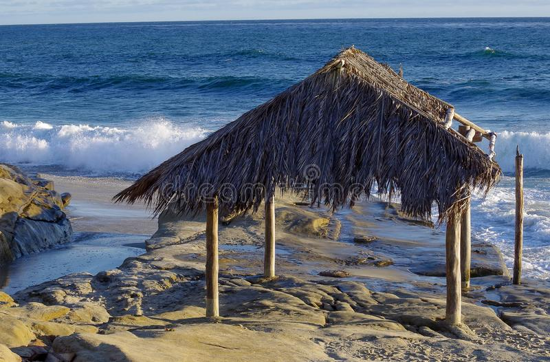 The Surf Shack on Windansea Beach, La Jolla stock image