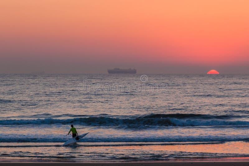 Download Surf-Ski Canoe Ocean Sunrise Editorial Photo - Image: 31149131
