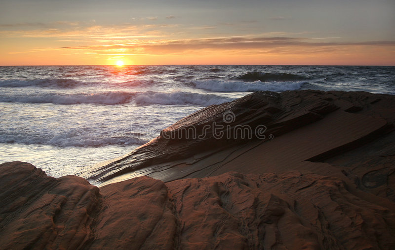 Surf at Sunset royalty free stock photos