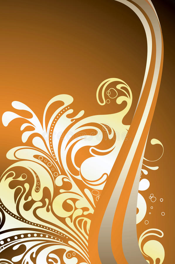 Download Surf in Sunset stock vector. Illustration of curve, foam - 15682006