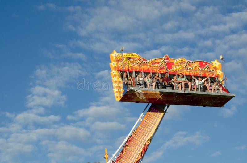 `Surf up` amusement park ride at Sydney Royal Easter show. SYDNEY, AUSTRALIA. - On March 31, 2013 - `Surf up` amusement park ride at Sydney Royal Easter show royalty free stock images
