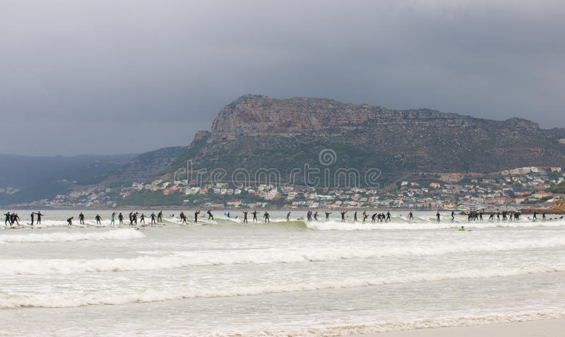 Surf World record attempt at Cape Town stock photography